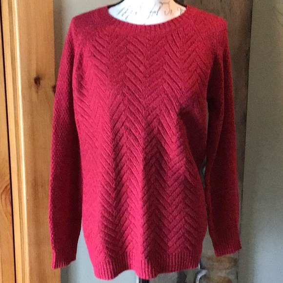 Red sweater from Sonoma